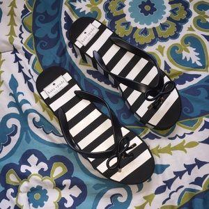 kate spade Shoes - 🆕 Kate Spade Black and White Platform Flip Flops